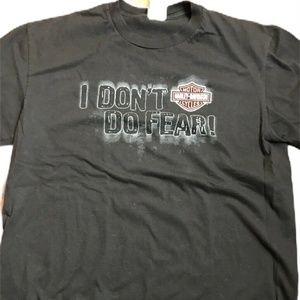 Harley Davidson Mens T Shirt I Don't Do Fear XL